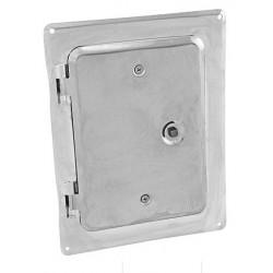 Saválló acél kényénytisztító ajtó (fényes)