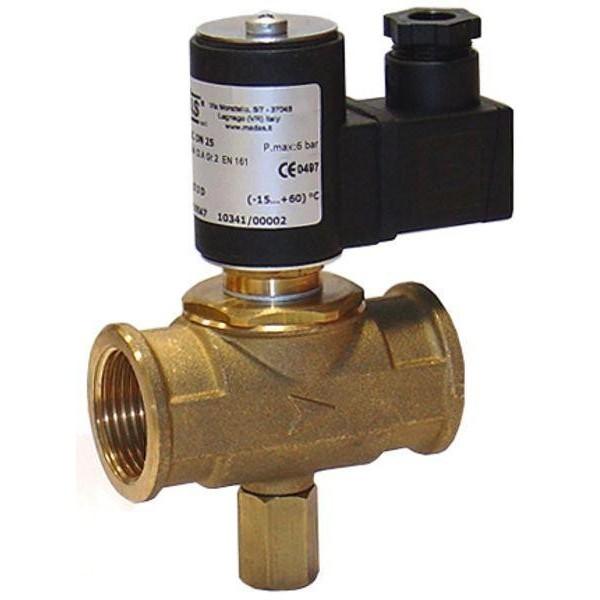 """MADAS kézi működtetésű gáz mágnesszelep 1"""", 230V (Cikk:C004C008)"""