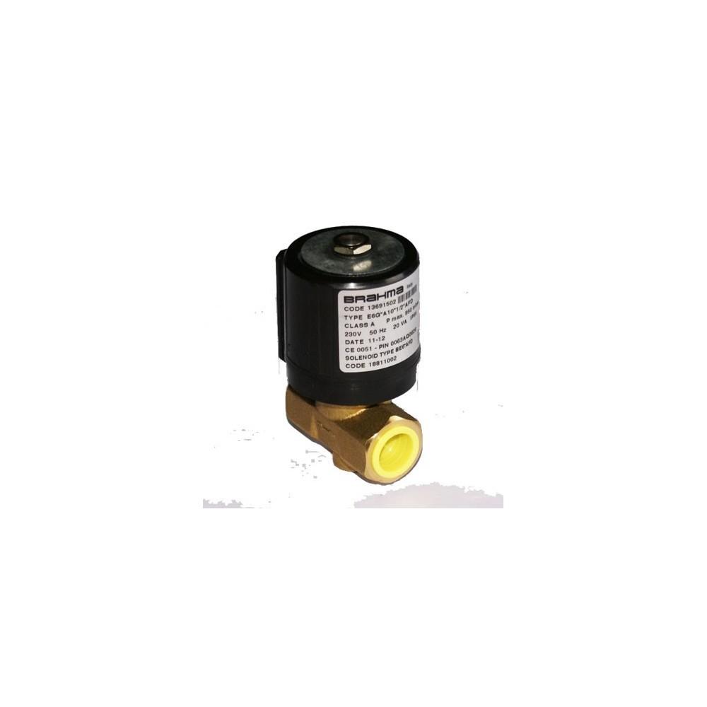 """Brahma gáz mágnesszelep 230V 1/2"""" belső menetes"""