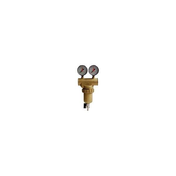 """rubalp  2"""" fémházas átöblíthető vízszűrő dupla nyomásmérővel"""
