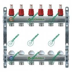 """Comisa 2 körös szerelt áramlásmérős osztó-gyűjtő 1""""-3/4"""""""