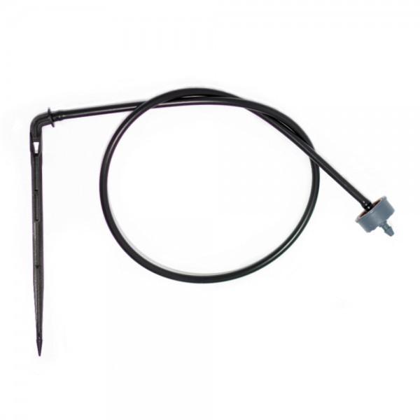 Csepegtető egység NaanDanJain 2l/h gombával, 60cm 5/3 fekete csővel, tüskével