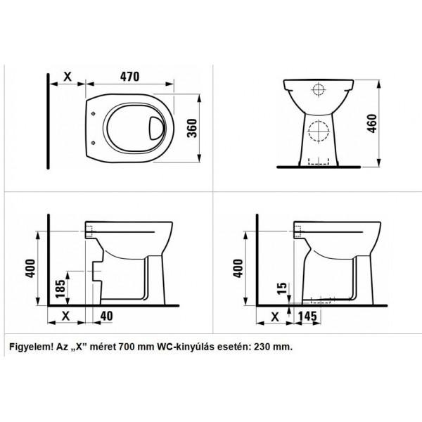 Mozgássérült wc, magasított,lapos,alsó