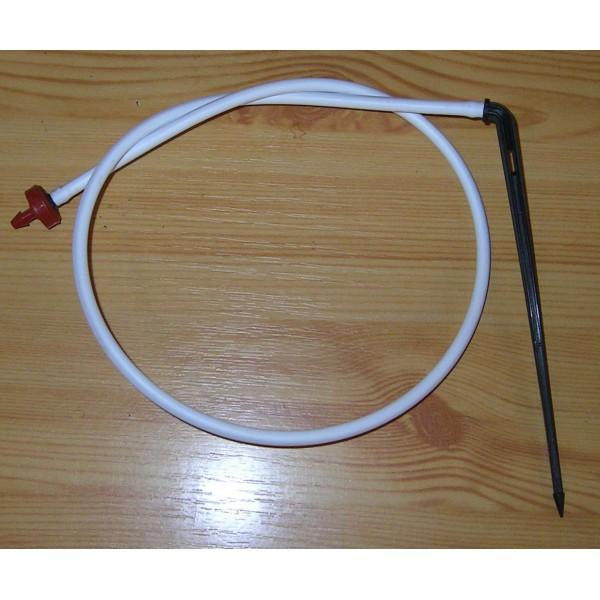 Csepegtető egység Netafim CNL kicsi gombával, 60cm 5/3 csővel