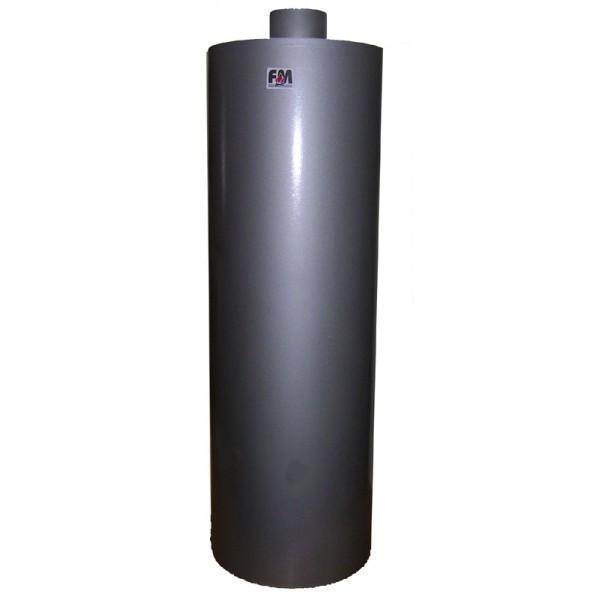 FM - fatüzelésű bojler 90 literes felső rész - festett - kiállás nélkül