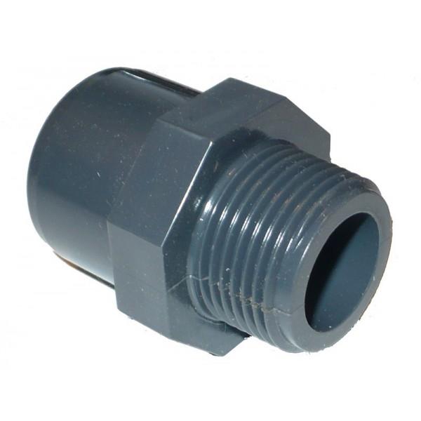 """PVC ragasztható csatlakozó 20-1/2"""" KM"""