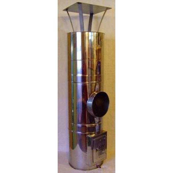 KO/KO 350/450 (0,8) - 4m szerelt kémény