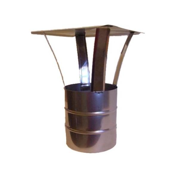 120-as saválló acél esővédő idom
