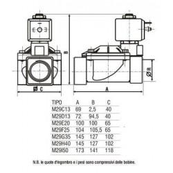 """Fantini FanCos 6/4"""" BB mágnesszelep (cikksz.:M29H40)"""