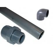 PVC ragasztható nyomócső és idomai